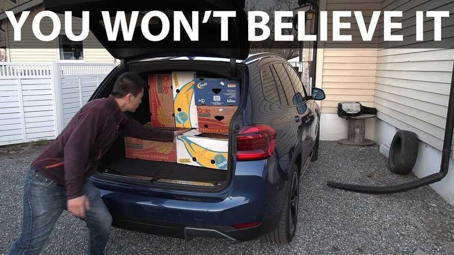 Frunkless BMW iX3 Positively Surprises In Bjorn's Banana Box Test