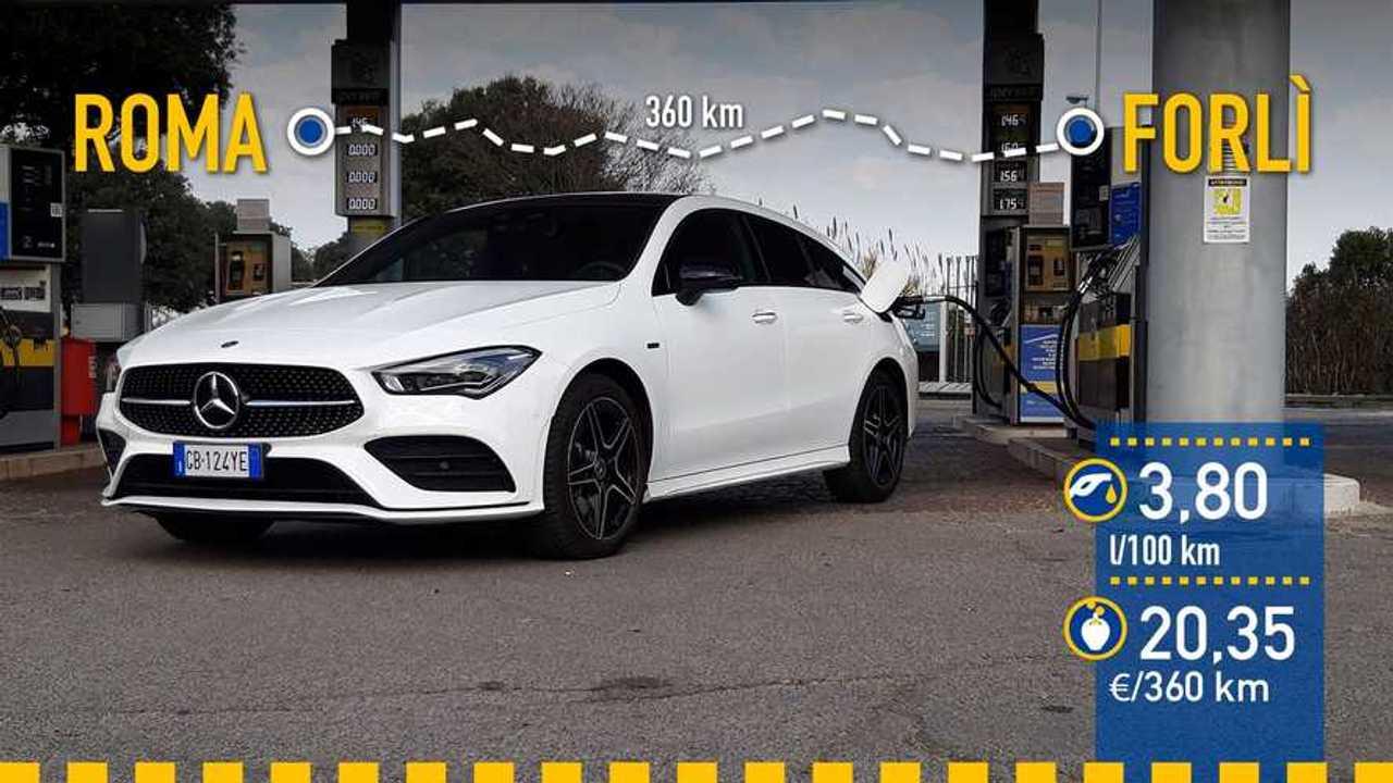 Prueba de consumo Mercedes-Benz CLA 250 e Shooting Brake