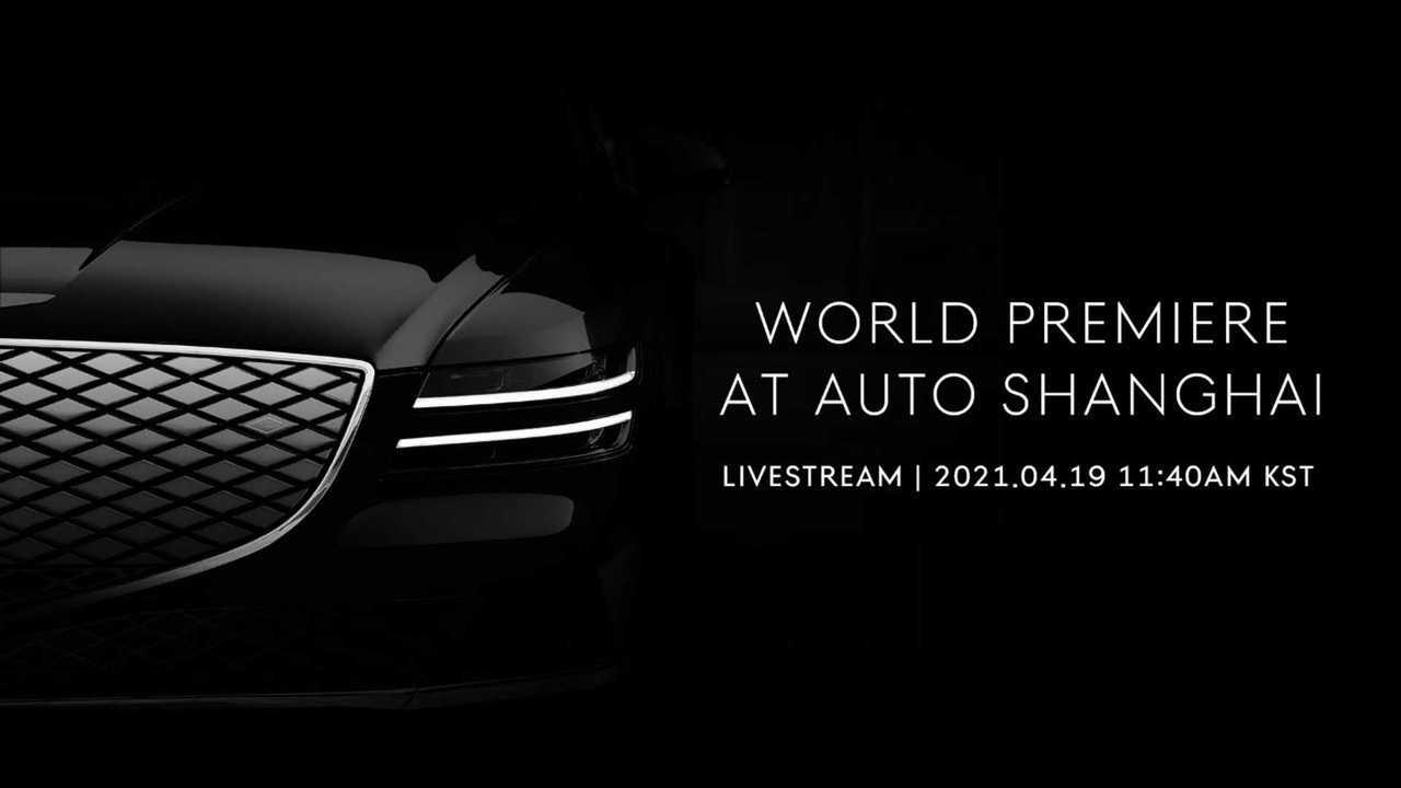 Genesis GV70e teased ahead Auto Shanghai debut