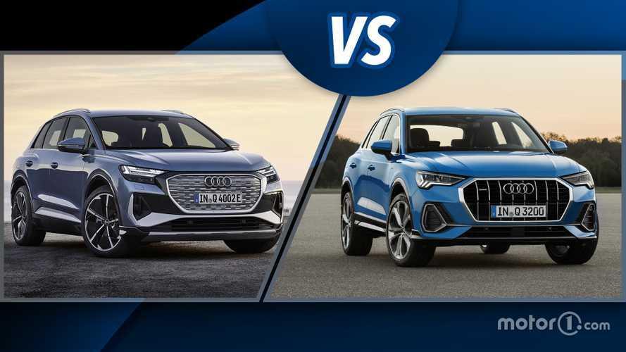 Audi Q4 e-tron e Q3, SUV elettrico contro SUV a benzina