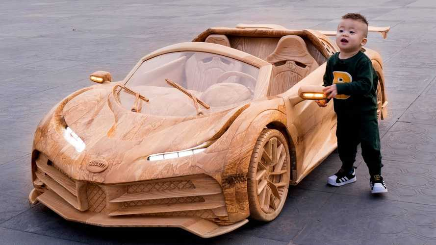 Bugatti Centodieci wood carving is nature's tribute to W16 hypercar