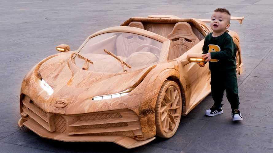 Dieser Bugatti Centodieci aus Holz ist ein Tribut der Natur an das W16-Hypercar