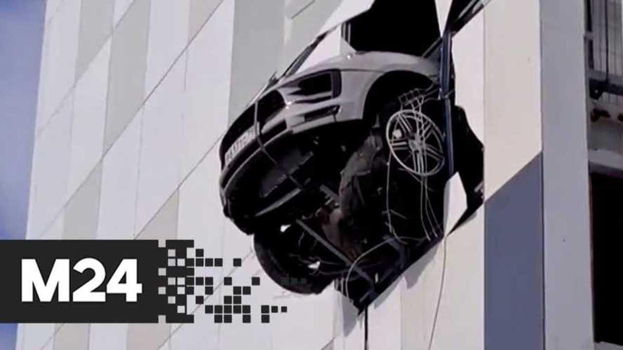 Porsche Macan binadan uçtu