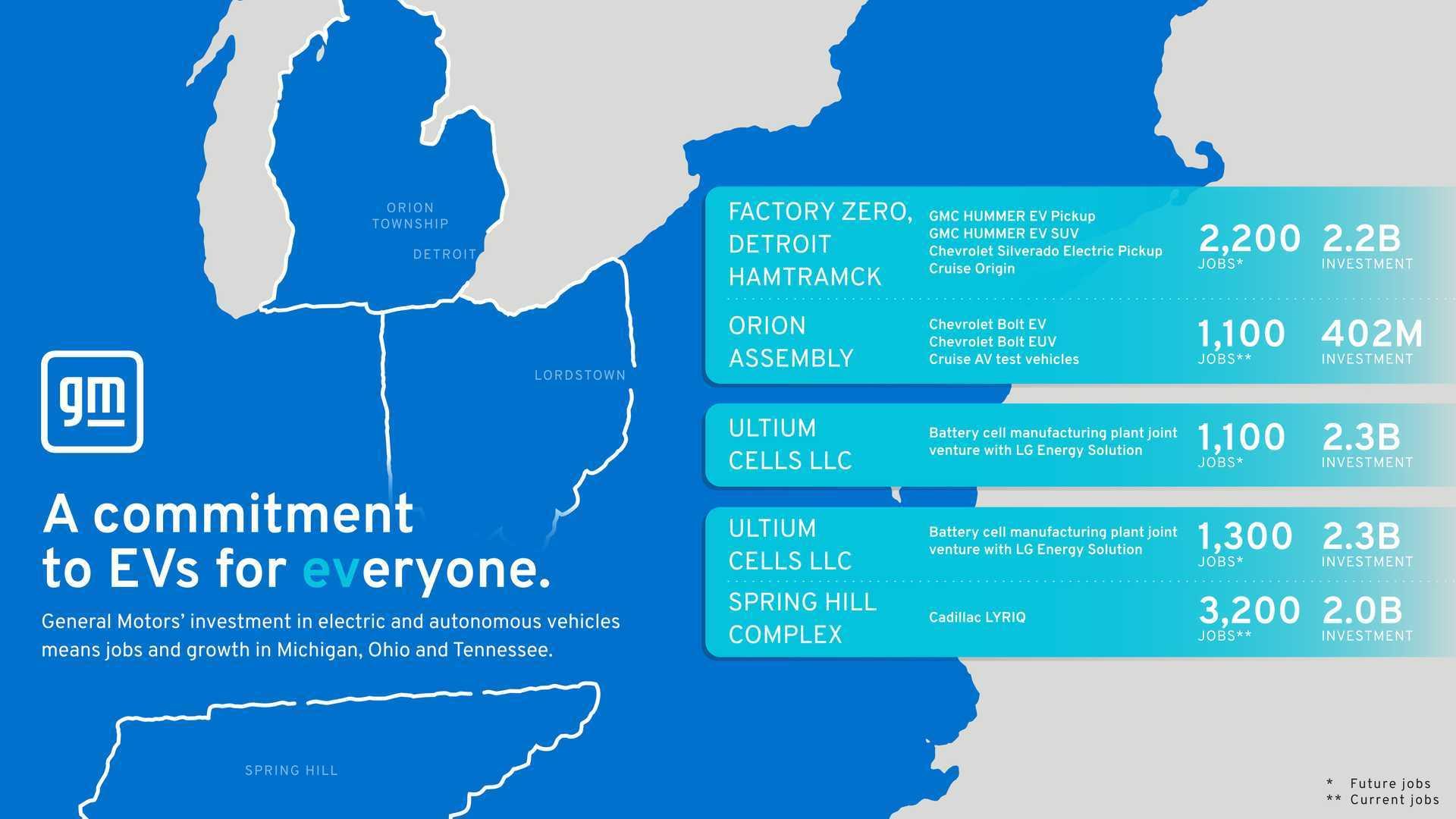 General Motors Reveals EV Investment Map For U.S.  image