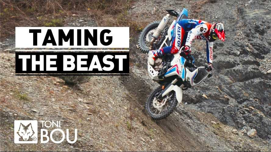 Watch What Toni Bou Can Do With Two Minutes And A Honda Africa Twin