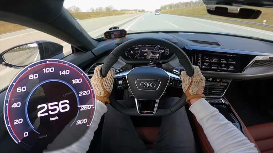 Audi RS E-Tron GT sounds like the future in Autobahn top speed run