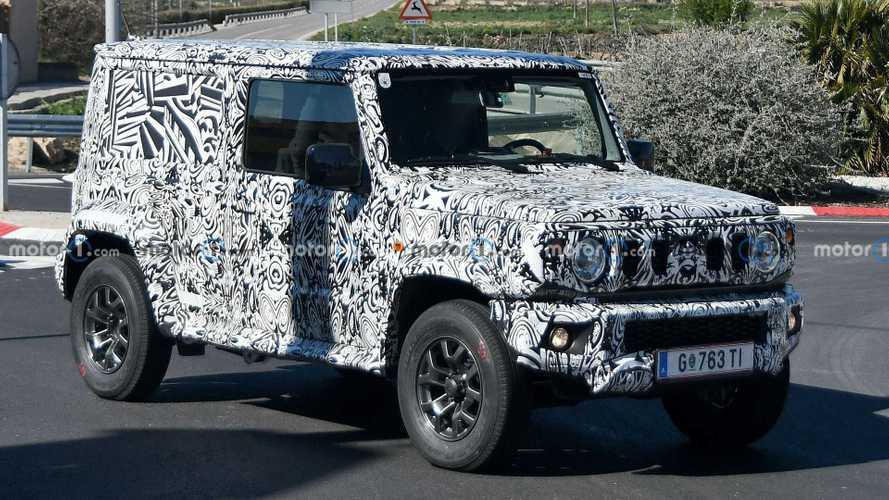 Flagra: Suzuki Jimny Sierra aparece com entre-eixos alongado