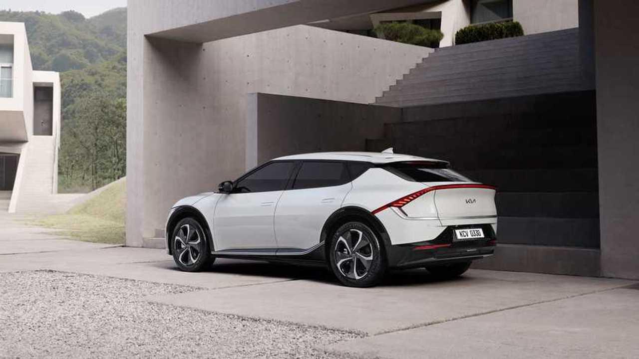 Kia EV6 modelinin resmi basın fotoğraflarından bir tanesi.