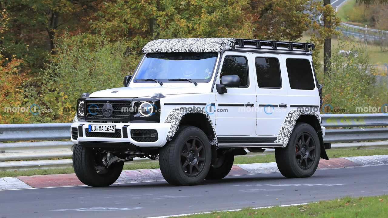 Mercedes G-Class Squared Spied On Nurburgring