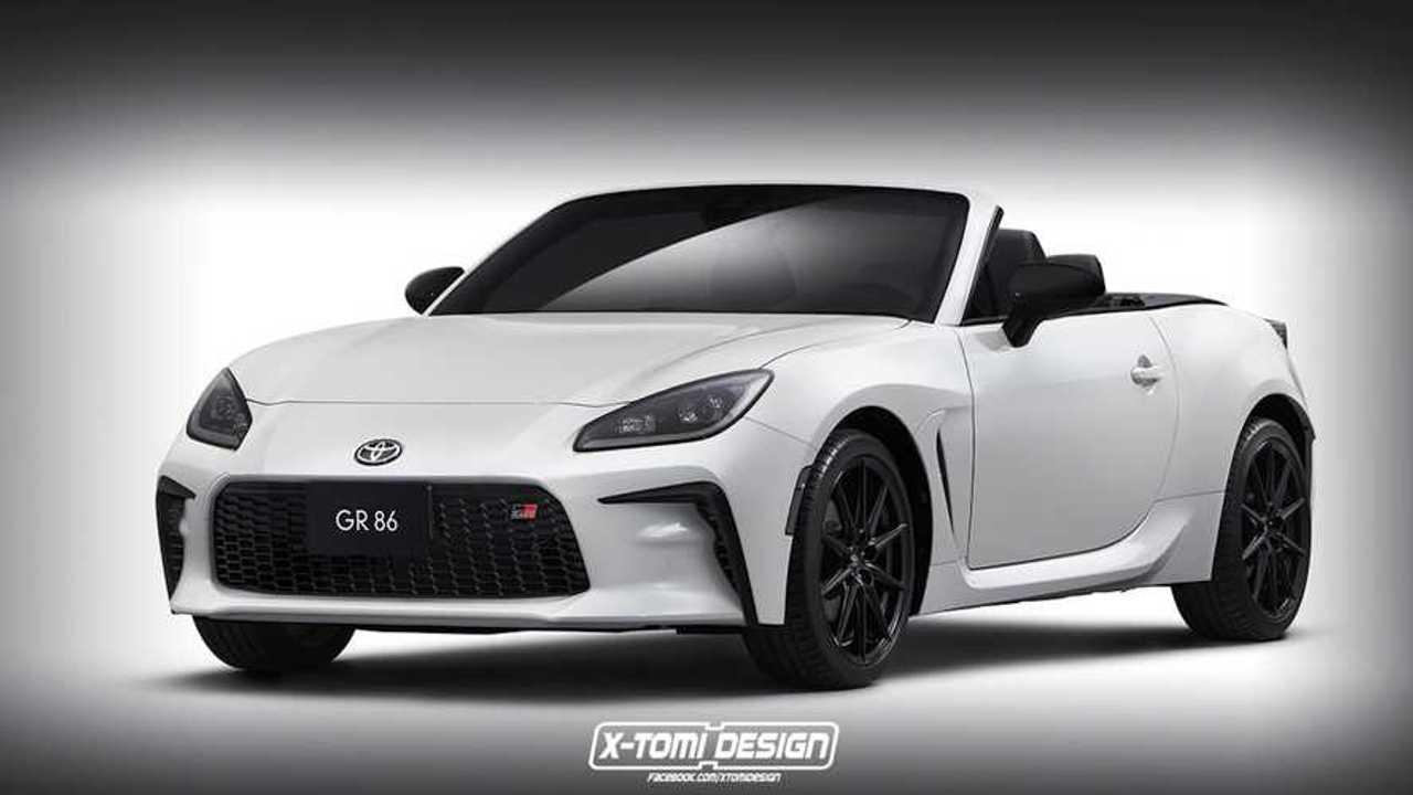 Rendering tidak resmi Toyota GR 86 Convertible.