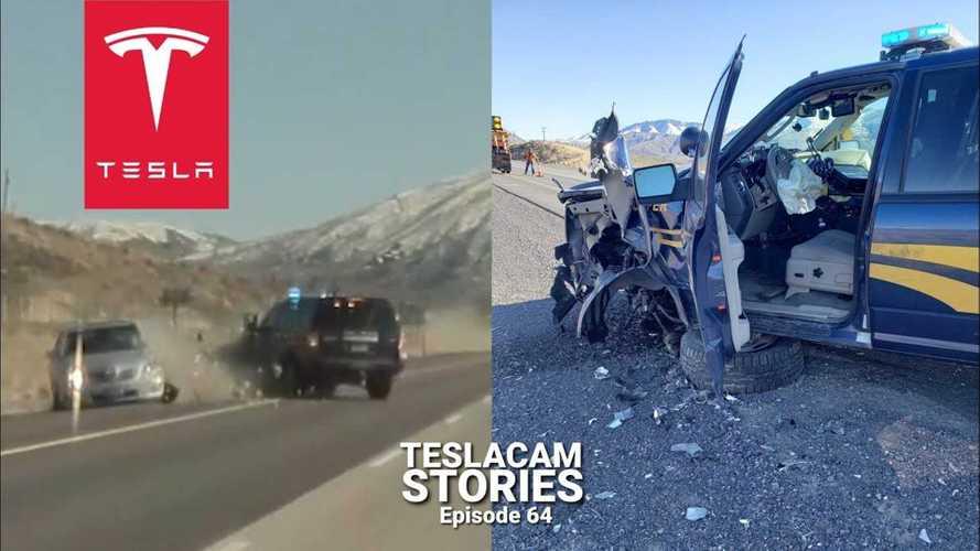 TeslaCam Captures Crazy Police Pursuit & Intentional Crash
