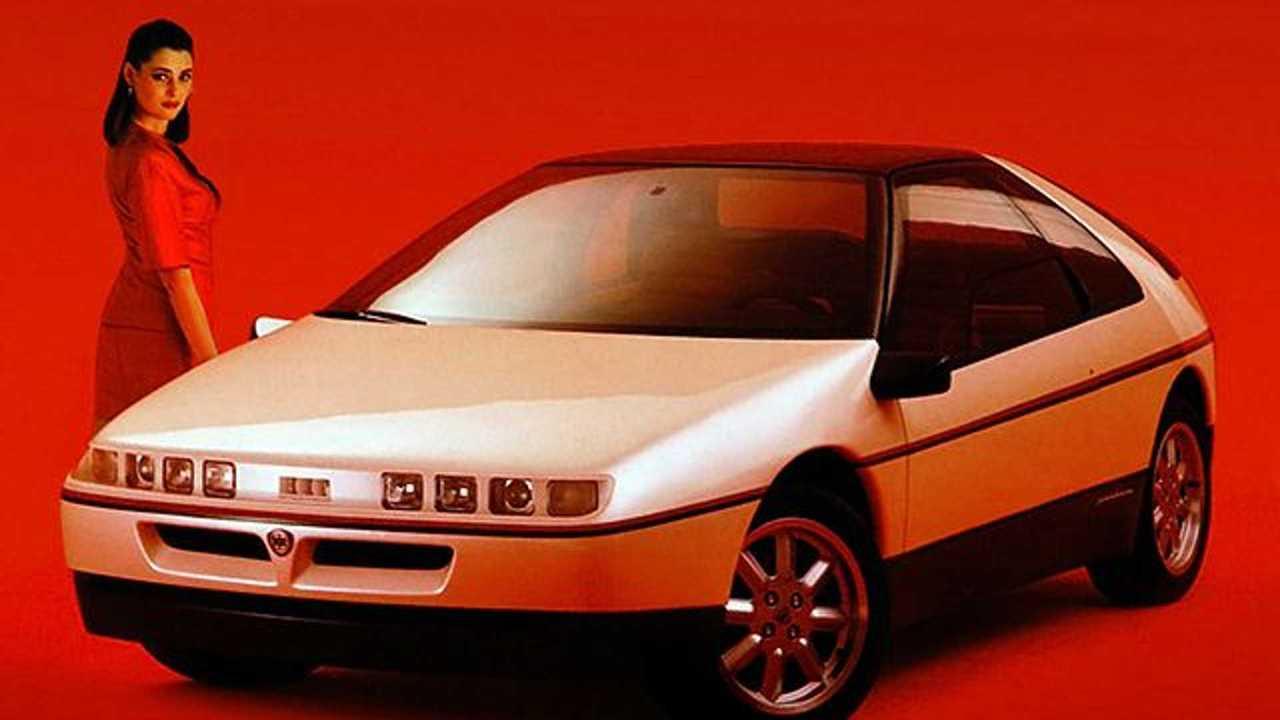 1988 Lancia HIT konseptinin basın fotoğrafı.