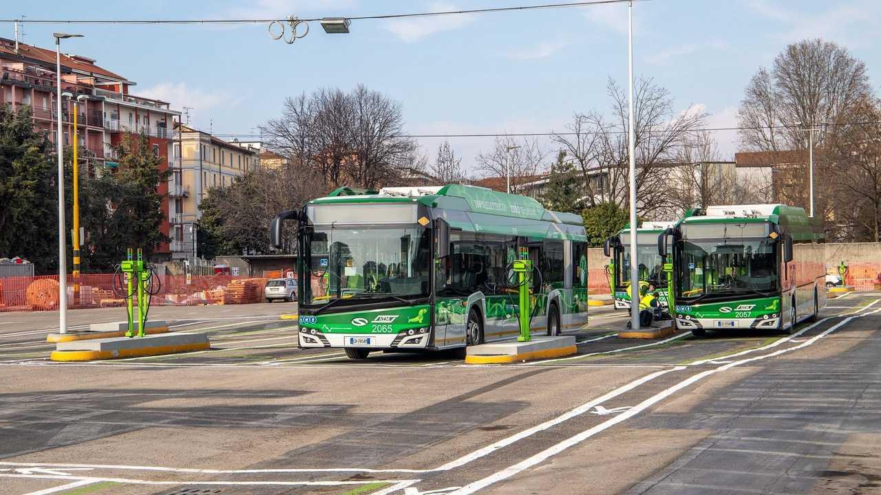 Un autobus elettrico a Milano