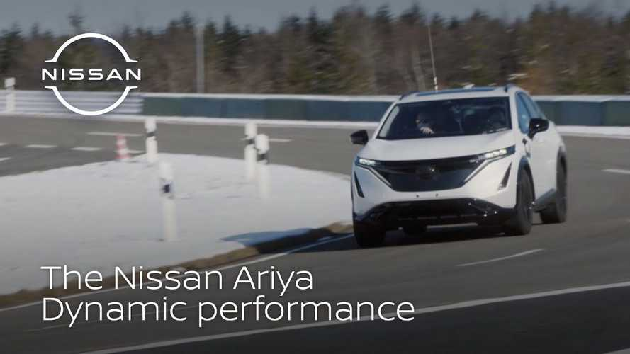 See Nissan Ariya At Proving Ground In Hokkaido, Japan