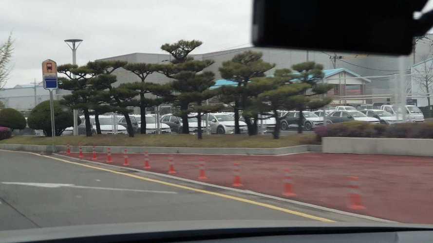 Car Park With Dozens Of Hyundai Ioniq 5 Spotted In South Korea