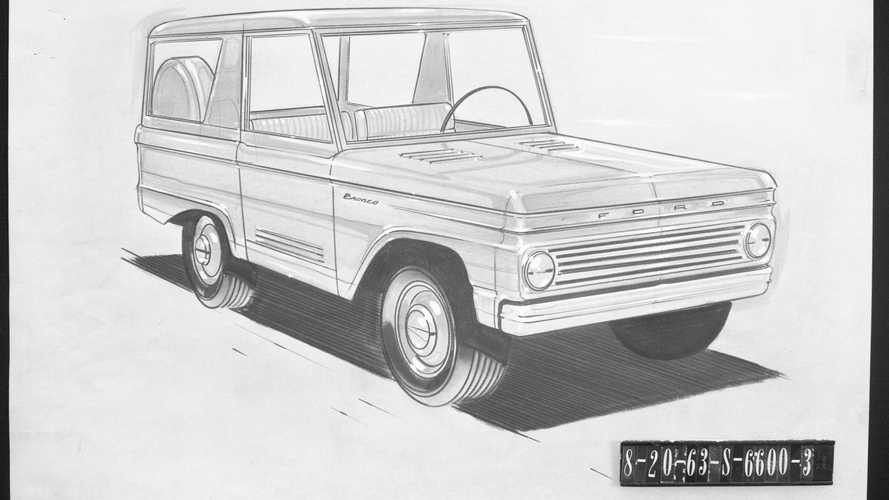 Ford Bronco, bocetos antiguos