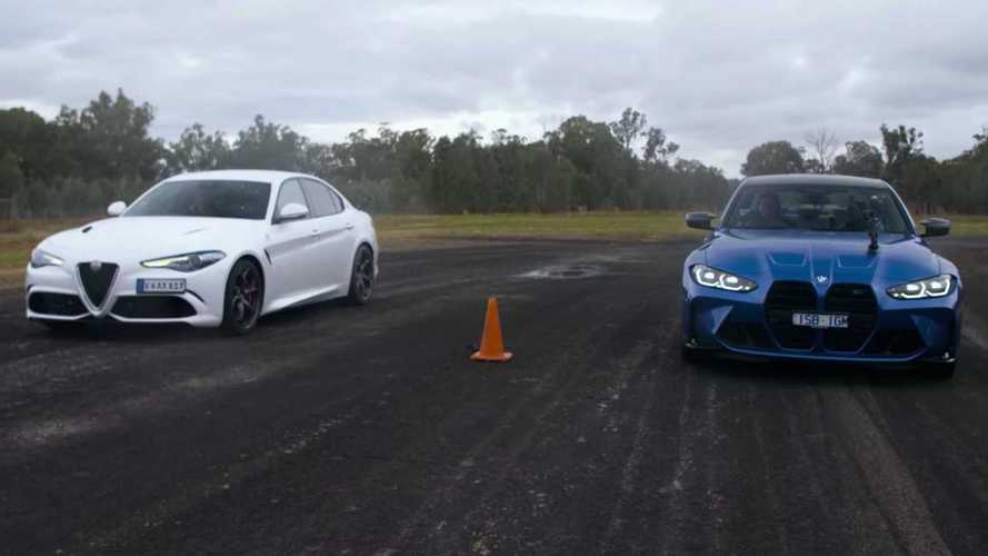 BMW M3 Competition ile Alfa Romeo Giulia Quadrifoglio yarışıyor!