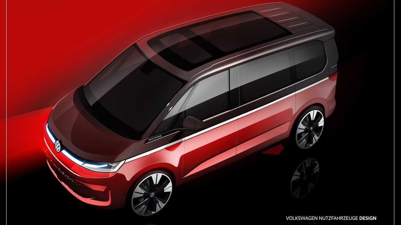 Das erste ungetarnte Bild des neue VW T7 Multivan