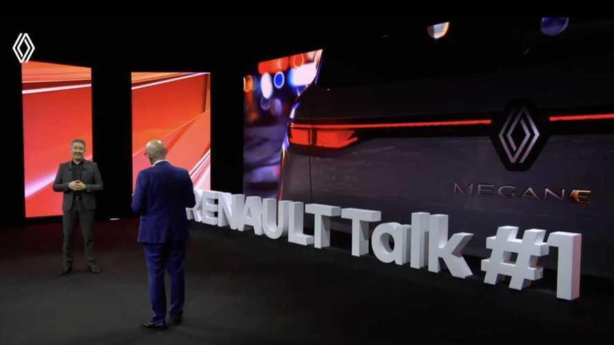 La prima foto della Megane elettrica con il nuovo logo Renault