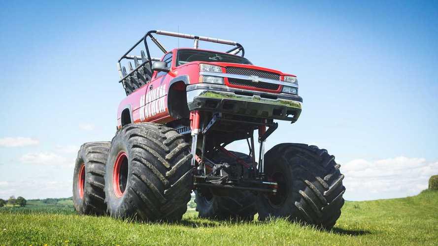 11-seat Chevy Silverado monster truck
