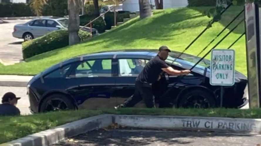 Canoo Sport Vehicle Spotted As Sleek 4-Door Tesla Model 3 Rival
