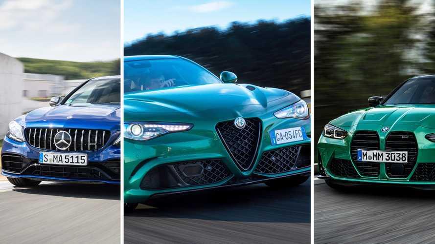 L'Alfa Giulia Quadrifoglio dépasse la BMW M3 et la Mercedes C 63 S !