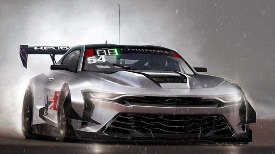 Official Chevy Camaro race car rendering imagines a track star