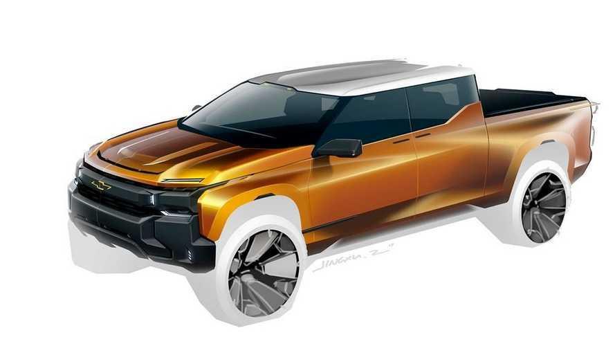 Chevrolet Silverado elétrica tem visual sugerido em projeção