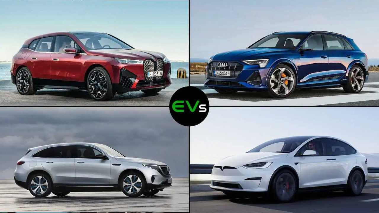 BMW iX im Vergleich mit der Konkurrenz von Audi, Mercedes und Tesla