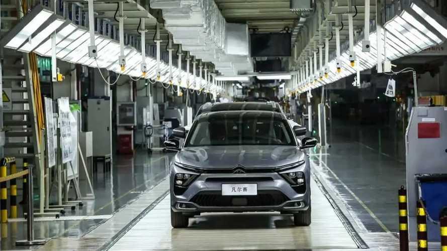 Citroen C5 X'in üretimi Çin'de resmen başladı