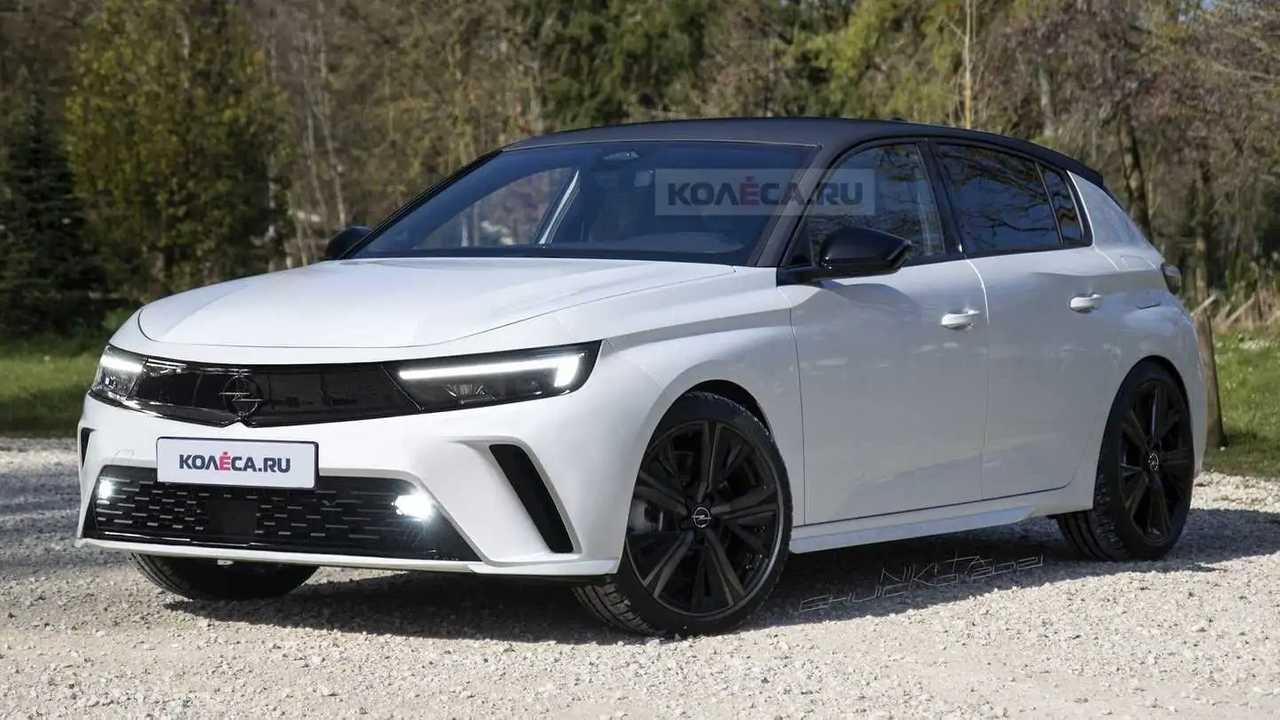 Opel Astra 2022 em projeção