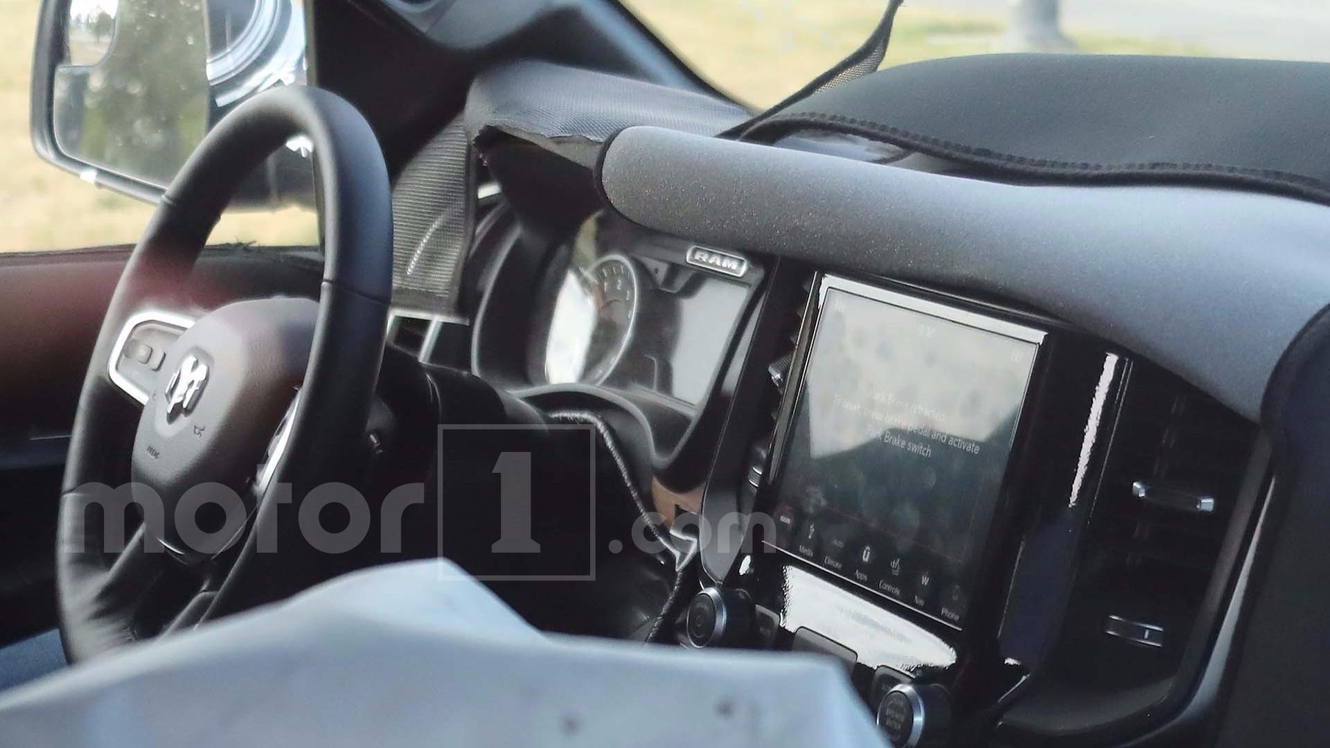 2019 Ram 1500 Spied With Interior And Lights Exposed Dodge Steering