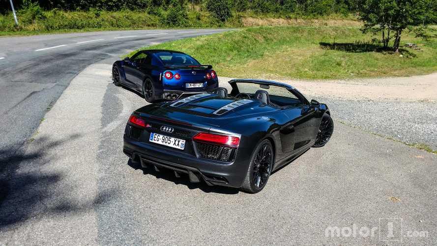 Plus de 1000 km à bord de l'Audi R8 Spyder et de la Nissan GT-R