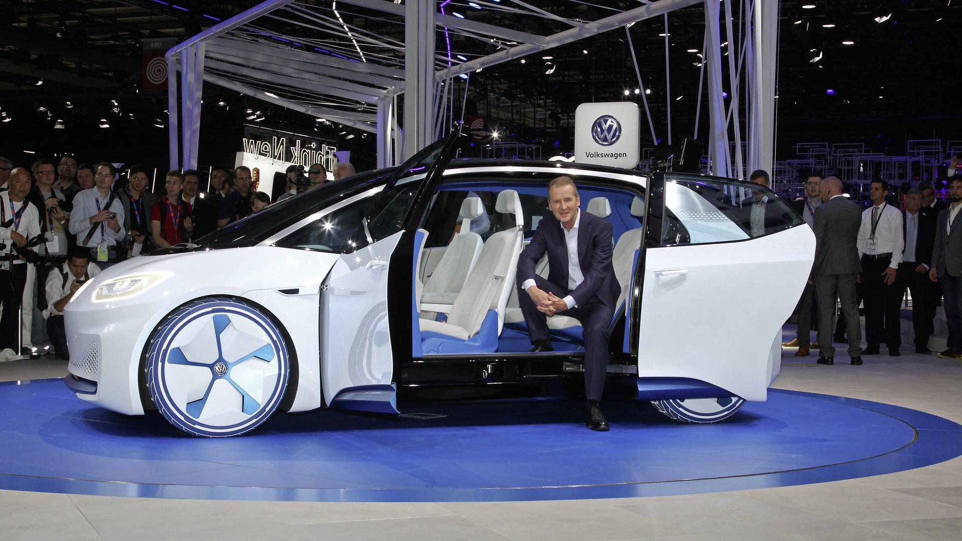 Volkswagen nega possibilidade de fusão com a Ford Volkswagen-ceo-herbert-diess-at-the-id-concept-premiere-in-paris