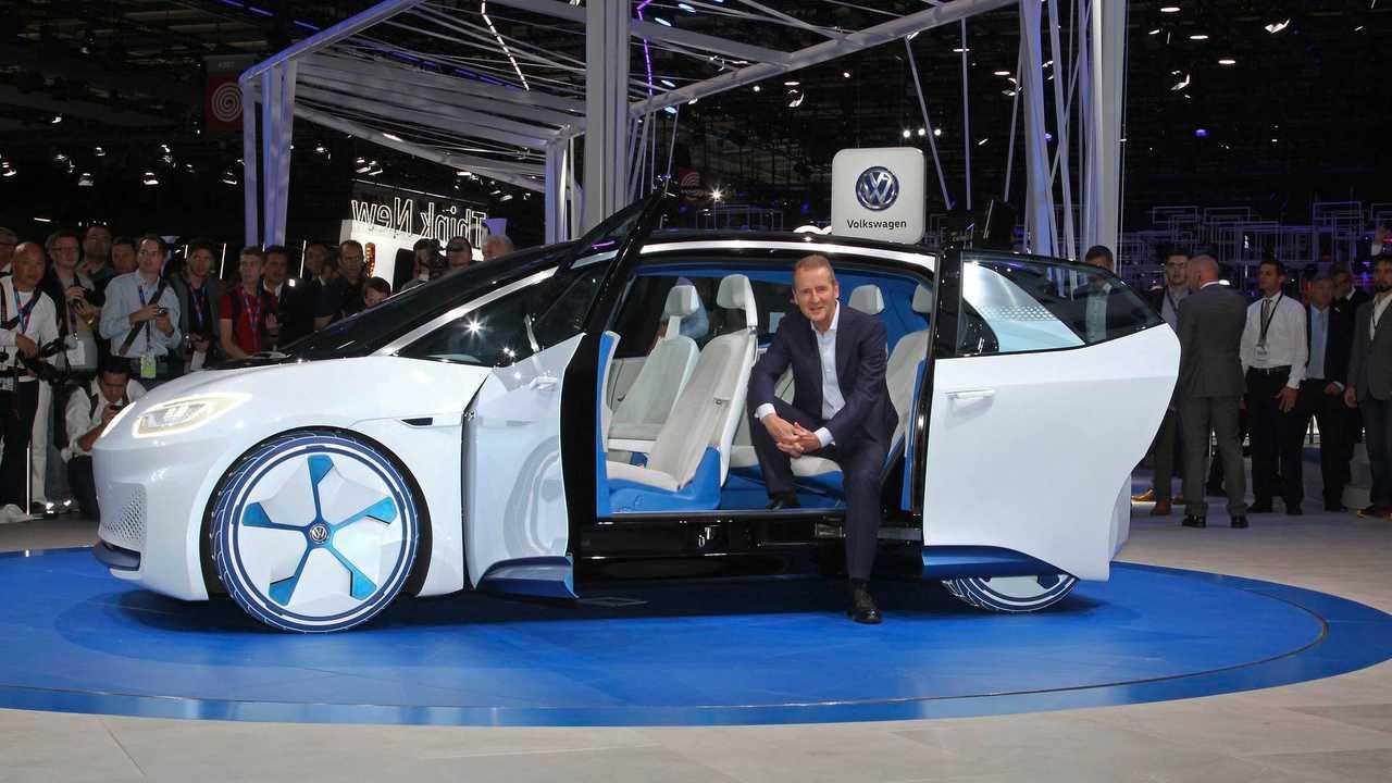 Volkswagen CEO Herbert Diess at the I.D. concept premiere in Paris.