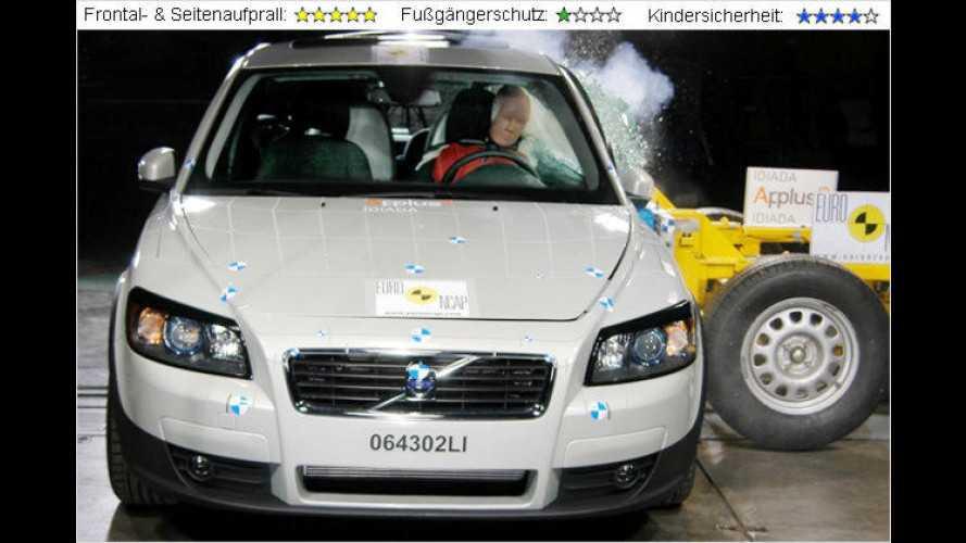 EuroNCAP-Crashtest mit VW Eos, Volvo C30 und Chevrolet Captiva und Chrysler Voyager