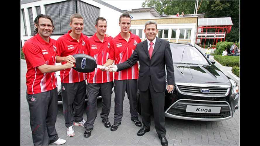 Poldi & Co. fahren Ford: Neue Dienstwagen für 1. FC Köln