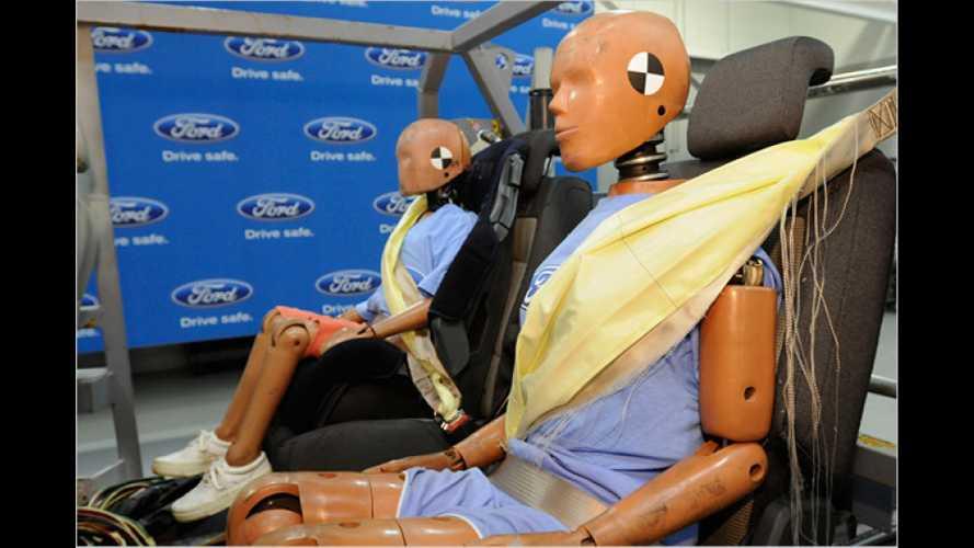Der Gurt-Airbag: Ford stellt aufblasbare Sicherheitsgurte vor