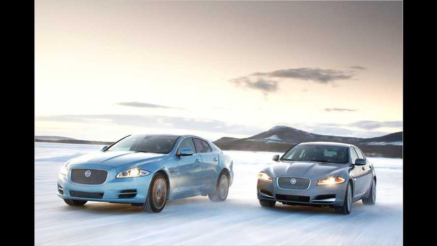 Jaguar XF und XJ mit Allradantrieb im Test