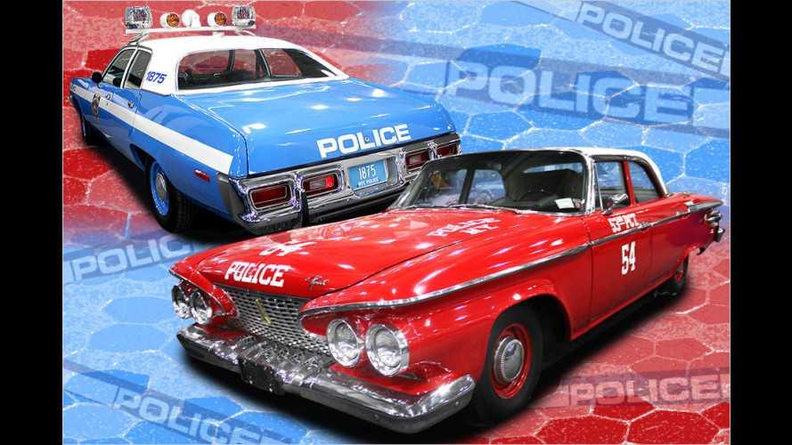 Die Streifenwagen der New Yorker Polizei