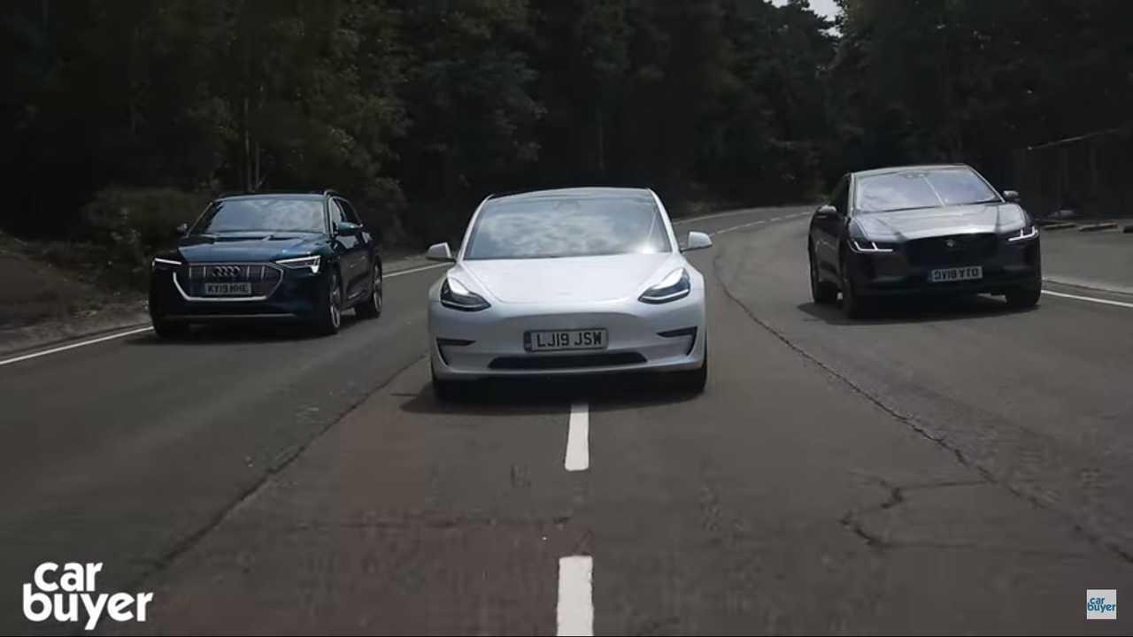 Video Compares Tesla Model 3 To Jaguar I-Pace And Audi E-Tron