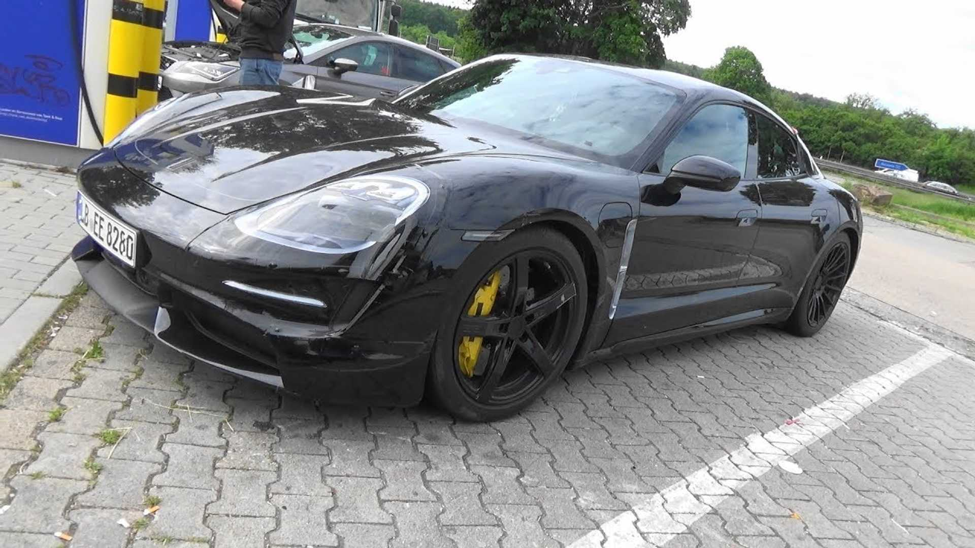 2020 Porsche Taycan Spied In Detail With Barely Any Camo