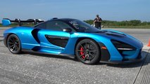 mclaren senna top speed run