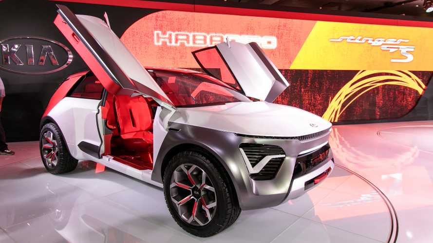 Kia Habaniro Concept Debuts As Colorful Electric Crossover