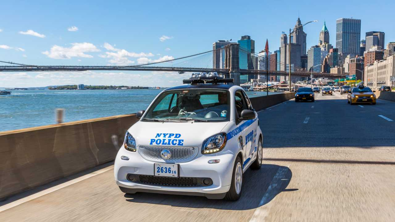Smart Fortwo als NYPD-Polizeifahrzeug