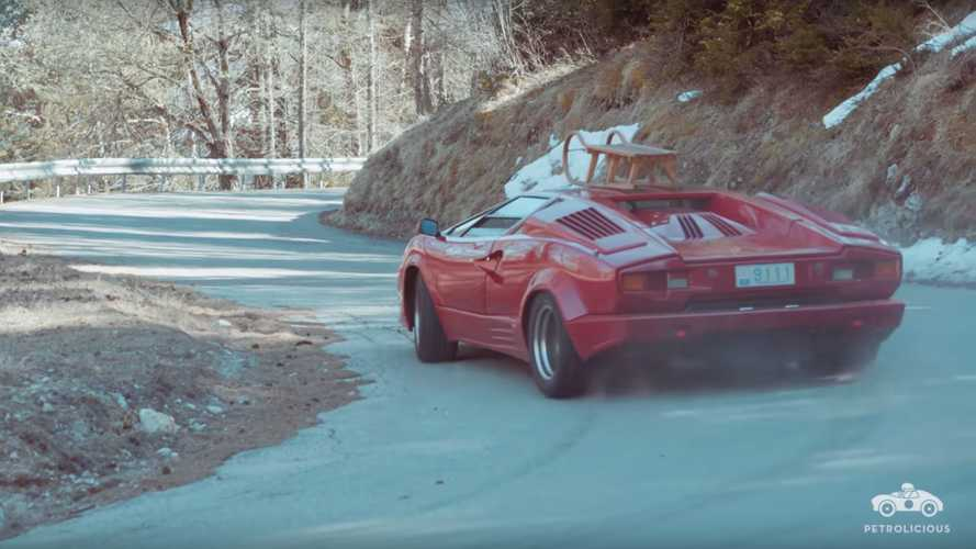 Watch this Lamborghini Countach Tear Through The Mountains