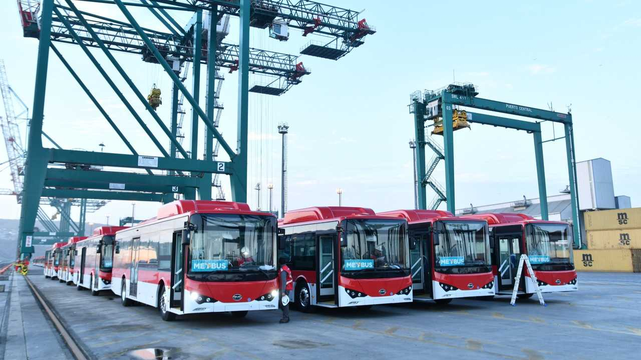 BYD electric buses in Chile