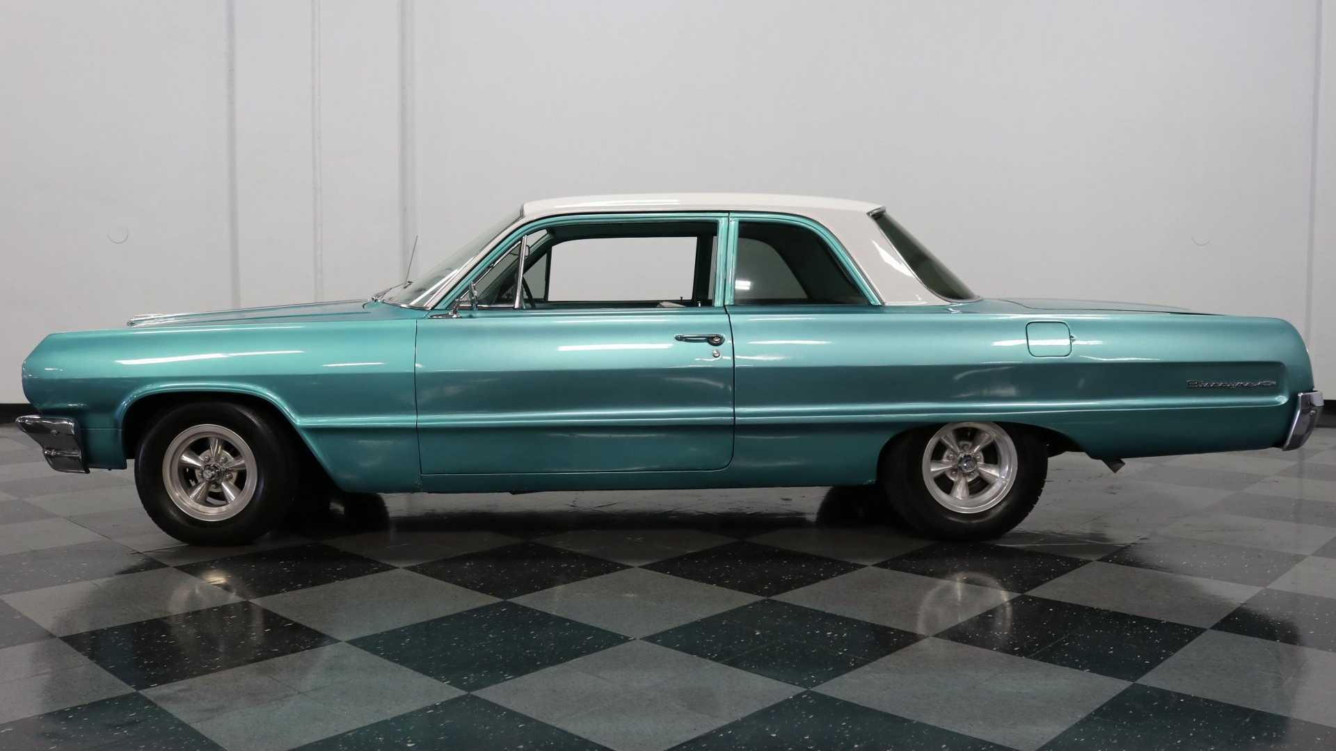 "[""1964 Chevrolet Biscayne 2-Door Sedan Is A Beautiful Cruiser""]"
