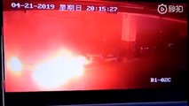 Explosion Tesla Model S