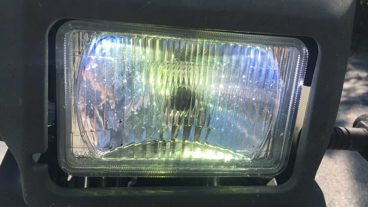 Cyclops LED Bulb In Kawasaki KLR 650